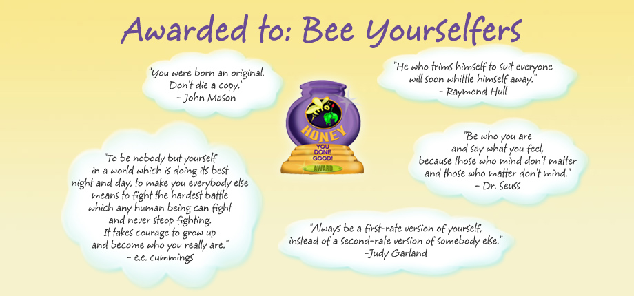 Honey Pot Award - Bee Yourselfers