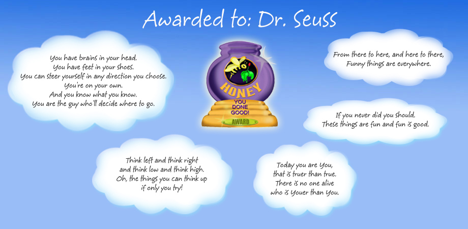 Honey Pot Award - Dr. Seuss