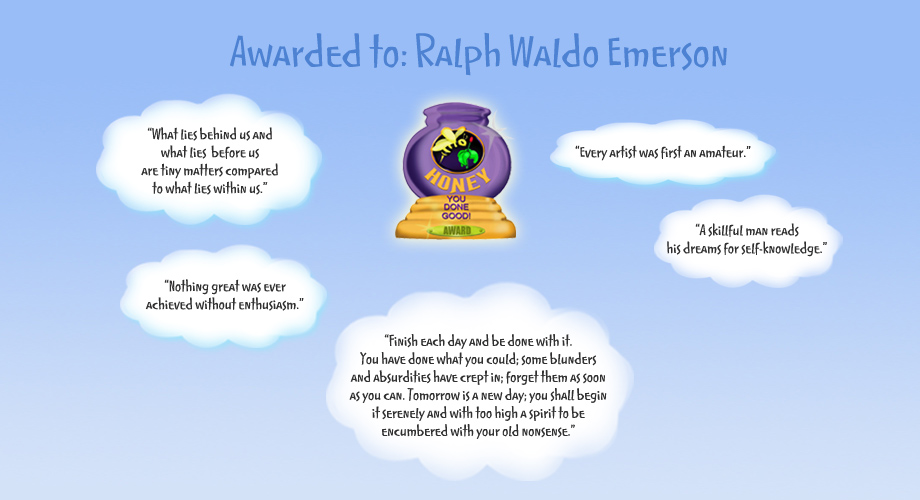 Honey Pot Award - Ralph Waldo Emerson