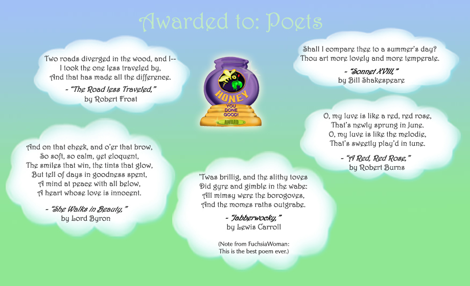 Honey Pot Award - Poets