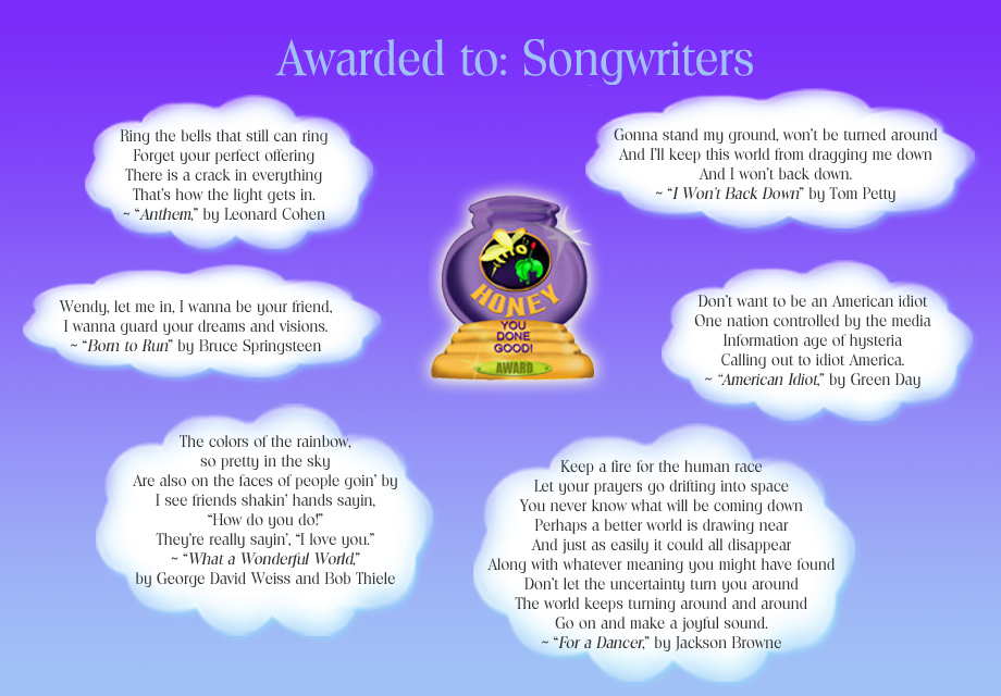 Honey Pot Award - Songwriters