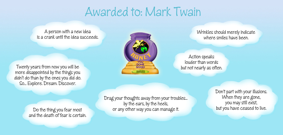 Honey Pot Award - Mark Twain