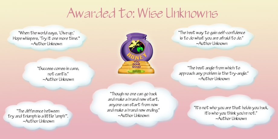 Honey Pot Award - Wise Unknowns